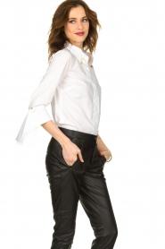 ELISABETTA FRANCHI |  Stretch blouse Frizzante | white  | Picture 4