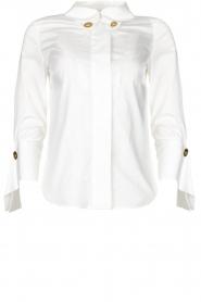 ELISABETTA FRANCHI |  Stretch blouse Frizzante | white  | Picture 1