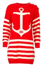ELISABETTA FRANCHI |  Knitted dress Ancora | red  | Picture 1