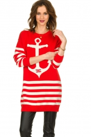 ELISABETTA FRANCHI |  Knitted dress Ancora | red  | Picture 4