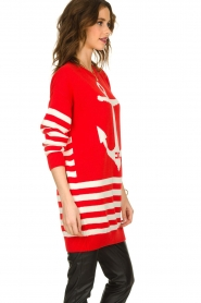 ELISABETTA FRANCHI |  Knitted dress Ancora | red  | Picture 5