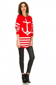 ELISABETTA FRANCHI |  Knitted dress Ancora | red  | Picture 3