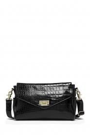 Depeche |  Snakeprint shoulder bag Meryam  | black  | Picture 1