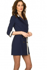 ELISABETTA FRANCHI |  Dress with belt Marina | blue  | Picture 4