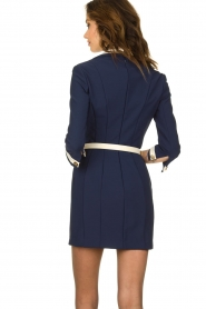 ELISABETTA FRANCHI |  Dress with belt Marina | blue  | Picture 6