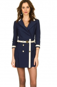 ELISABETTA FRANCHI |  Dress with belt Marina | blue  | Picture 2