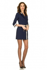 ELISABETTA FRANCHI |  Dress with belt Marina | blue  | Picture 3