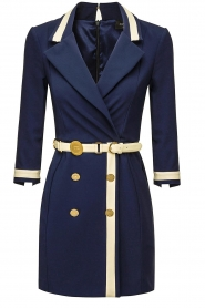 ELISABETTA FRANCHI |  Dress with belt Marina | blue  | Picture 1