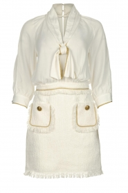 ELISABETTA FRANCHI | Jurk met blouse detail Dolce | wit : Dress with blouse detail Do  | Picture 1
