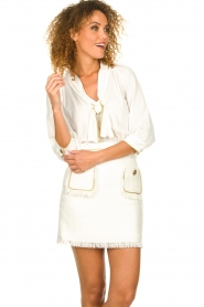 ELISABETTA FRANCHI | Jurk met blouse detail Dolce | wit : Dress with blouse detail Do  | Picture 5