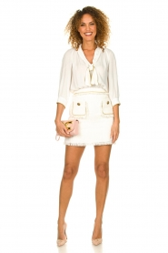 ELISABETTA FRANCHI | Jurk met blouse detail Dolce | wit : Dress with blouse detail Do  | Picture 3