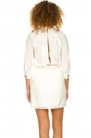 ELISABETTA FRANCHI | Jurk met blouse detail Dolce | wit : Dress with blouse detail Do  | Picture 6