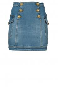 ELISABETTA FRANCHI |  Denim skirt with buttons Festiva | blue  | Picture 1