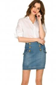 ELISABETTA FRANCHI |  Denim skirt with buttons Festiva | blue  | Picture 2