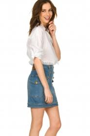 ELISABETTA FRANCHI |  Denim skirt with buttons Festiva | blue  | Picture 4