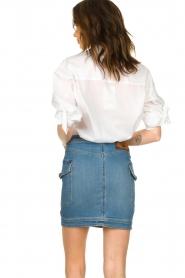 ELISABETTA FRANCHI |  Denim skirt with buttons Festiva | blue  | Picture 5
