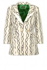 ELISABETTA FRANCHI | print blazer catena  | Picture 1