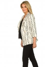 ELISABETTA FRANCHI | print blazer catena  | Picture 5