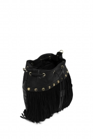 Depeche |  Leather fringe bucket bag Fay | black  | Picture 3