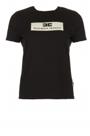 ELISABETTA FRANCHI |  T-shirt with logo print Stella | black  | Picture 1
