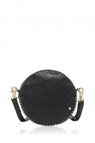 Depeche |  Round shoulder bag with studs Lana | black  | Picture 1