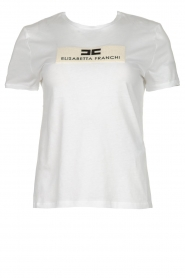 ELISABETTA FRANCHI |  T-shirt with printed logo Aniek | white  | Picture 1