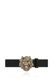 Depeche |  Leather belt with buckle Sia | black   | Picture 1