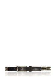 Depeche |  Leather belt Layla | black  | Picture 1