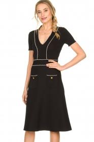 ELISABETTA FRANCHI |  Fitted dress Grazia | black  | Picture 4