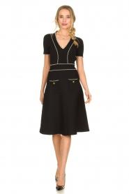 ELISABETTA FRANCHI |  Fitted dress Grazia | black  | Picture 3