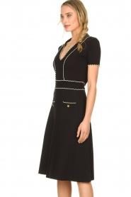 ELISABETTA FRANCHI |  Fitted dress Grazia | black  | Picture 5