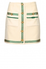 ELISABETTA FRANCHI |  Mini skirt with pockets Elegante | naturel  | Picture 1