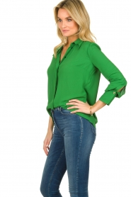 ELISABETTA FRANCHI |  Blouse with chic collar Verde | green  | Picture 4