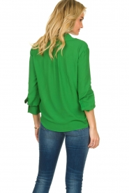 ELISABETTA FRANCHI |  Blouse with chic collar Verde | green  | Picture 5