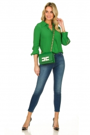 ELISABETTA FRANCHI |  Blouse with chic collar Verde | green  | Picture 3