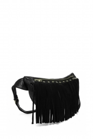 Depeche |  Leather bag with fringes Kiki | black  | Picture 3