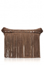 Depeche |  Leather fringe bag Kiki | brown