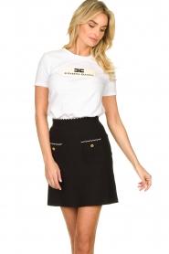 ELISABETTA FRANCHI |  A-line skirt Labbro | black  | Picture 2