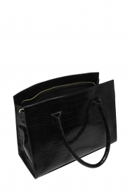 Depeche |  Leather shouder bag with crocodile Juul | black  | Picture 3