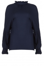 Fracomina |  Top with puffed sleeves Milou | blue  | Picture 1