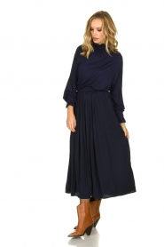 Fracomina |  Top with puffed sleeves Milou | blue  | Picture 3