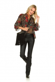 Fracomina |  Leopard print blouse Rosa | animal  | Picture 3