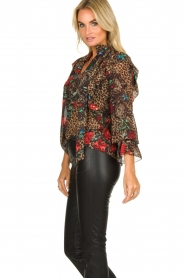 Fracomina |  Leopard print blouse Rosa | animal  | Picture 5