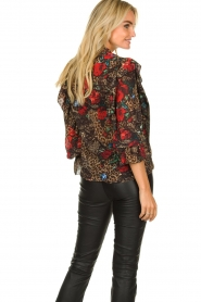 Fracomina |  Leopard print blouse Rosa | animal  | Picture 6