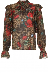Fracomina |  Leopard print blouse Rosa | animal  | Picture 1