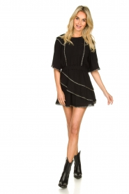 IRO |  Dress with metal details Zavora | black  | Picture 3