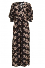 IRO |  Jumpsuit with flower print Mexi | black  | Picture 1