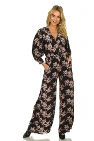 IRO |  Jumpsuit with flower print Mexi | black  | Picture 2
