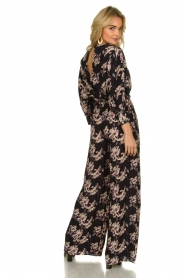 IRO |  Jumpsuit with flower print Mexi | black  | Picture 5