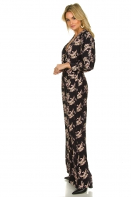 IRO |  Jumpsuit with flower print Mexi | black  | Picture 4